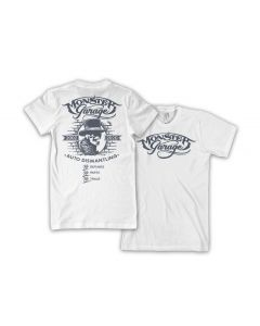 Monster Garage Hat Tee - White